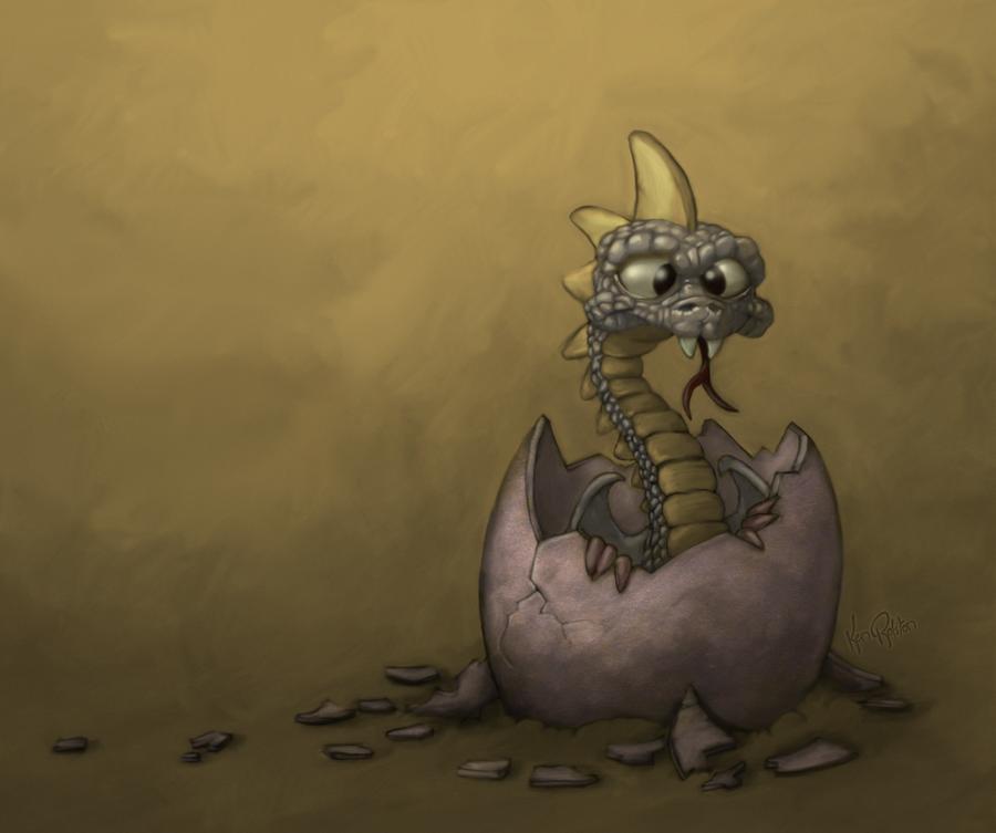 Esko the Baby Dragon by KenBago