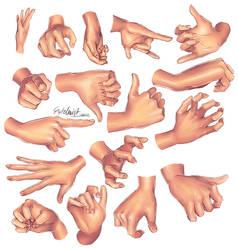 Hands Practice 01 by Estelmistt