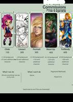 Commissions price! by Estelmistt