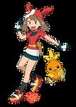 Pokemon anime - May (Sun and Moon style)