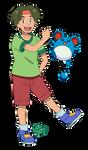 Pokemon anime - Tracey (Sun and Moon style)