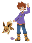 Pokemon anime - Gary (Sun and Moon style)