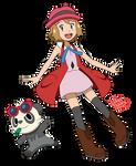 Pokemon anime - Serena (Sun and Moon style) 2