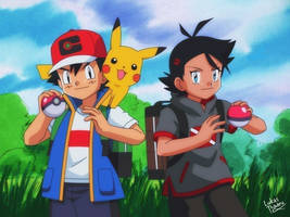 Ash and Go - 1997 art style