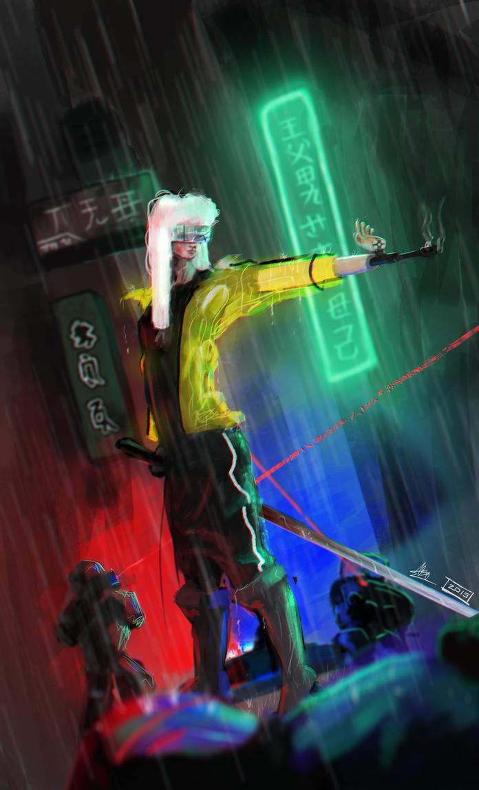 Kill Bill Cyberpunk Redesign by Karnivorous