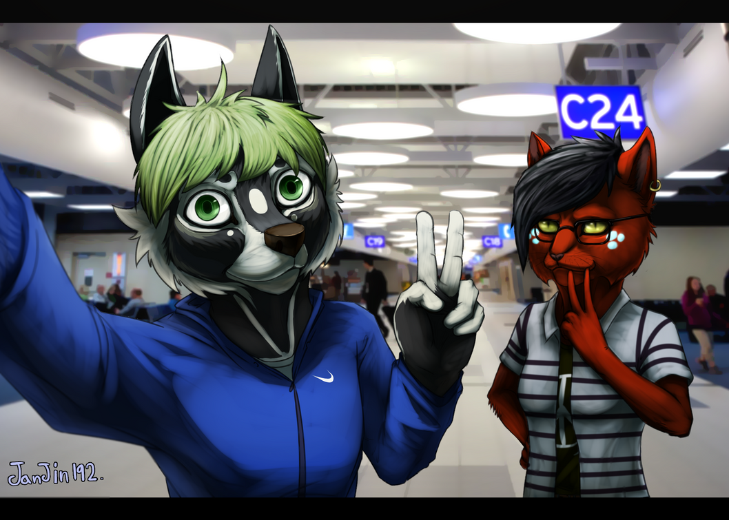 In the airport. by janjin192
