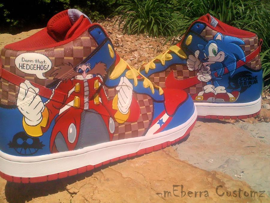 """Sonic """"Light Speed"""" dunks-fivE by meberra"""