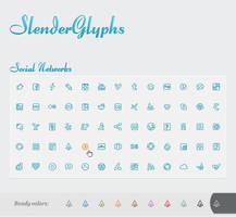 Slender Glyphs: Social Network by AnnaLitvinuk