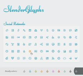 Slender Glyphs: Social Network