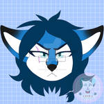 Flat Color Headshot Icon - BlueberryFlavored