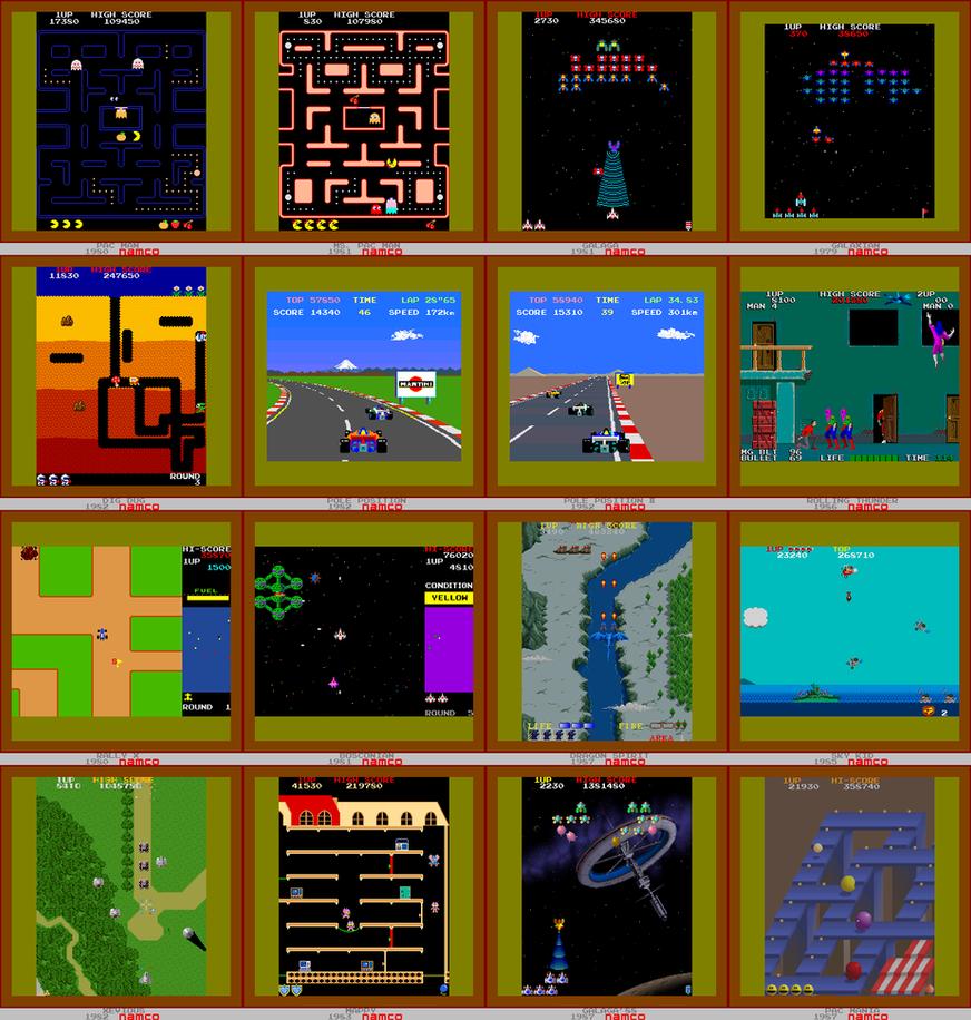 16 Namco Game Screenshots by MechafetusMan