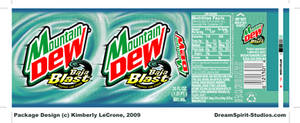Mountain Dew Baja Blast Label by Dreamspirit