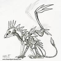 Ancient Robotic Gargoyle with by Dreamspirit