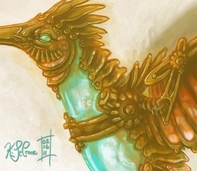 Mechanical Hummingbird Detail by Dreamspirit