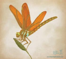 Clockwork Dragonfly Full by Dreamspirit