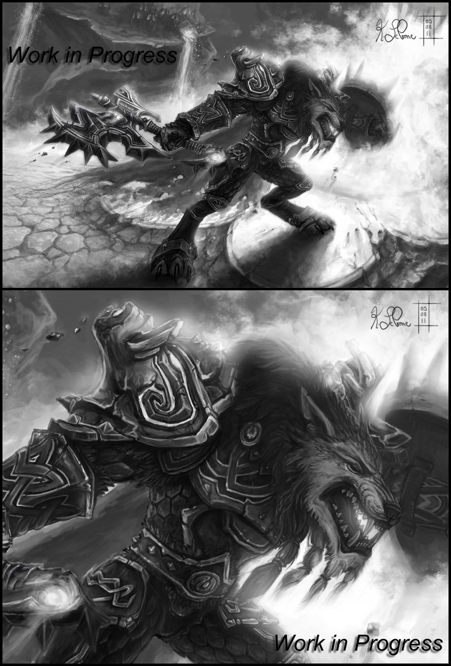 WoW Worgen Prot Warrior WIP 2 by Dreamspirit on DeviantArt
