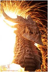 Deathwing Sculpture - 01 by Dreamspirit