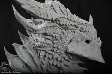 Deathwing Sculpture -03 by Dreamspirit