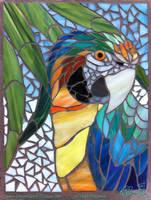 Catalina Macaw Mosaic WIP - 02 by Dreamspirit