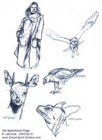Old Sketchbook Page - 2003 by Dreamspirit