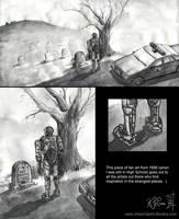 1998 Art- RoboCop at his Grave by Dreamspirit