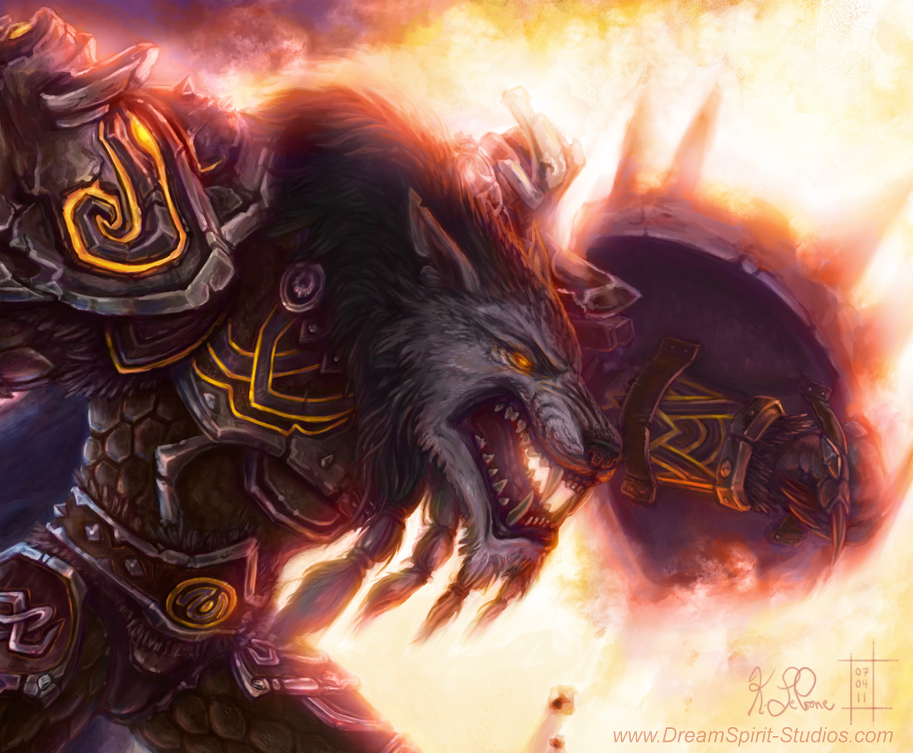 WoW Worgen Prot Warrior Color by Dreamspirit on DeviantArt