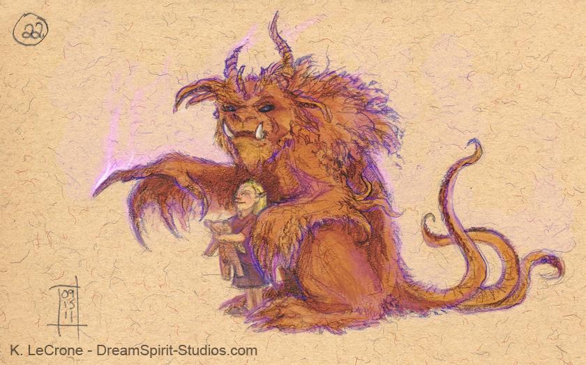 Alchemist and Friend Sketch by Dreamspirit