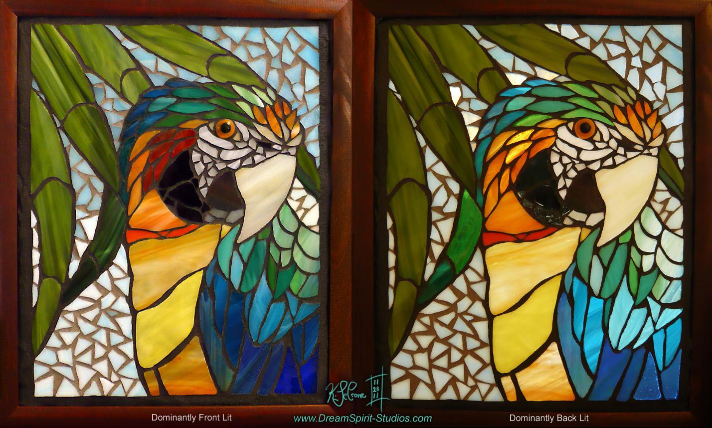 Catalina Macaw Mosaic Final by Dreamspirit
