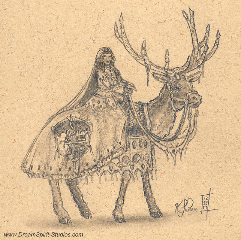 Elk Princess by Dreamspirit