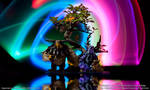 Collaborative WoW Druid Miniature Sculptures
