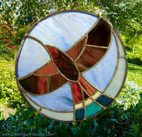 Stained Glass Red-Tailed Hawk by Dreamspirit