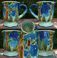 Forest Watchers Mug - Fired by Dreamspirit