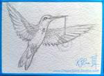 The Lightbearer - WIP - ACEO Sketch by Dreamspirit