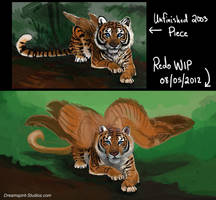 Feathered Tigress - WIP - 01 by Dreamspirit