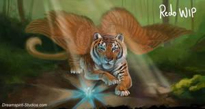 Feathered Tigress - WIP - 03 by Dreamspirit