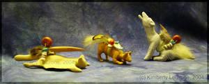 Flying Squirrel Bobcat andWolf