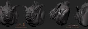 ZBrush - Week 1 - Diablo III Fallen Hound Sketch by Dreamspirit