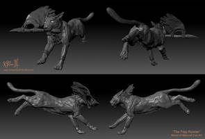 ZBrush - Week 4 - Night Elf Druid - Primary Views by Dreamspirit