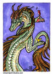 ACEO/ATC - Nature Dragon and Friends