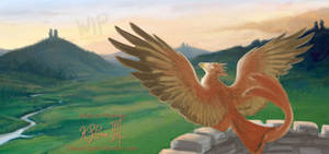 Sunning Gryphon - WIP - 01 by Dreamspirit