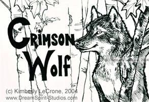 Crimson Wolf Conbadge in Prog by Dreamspirit