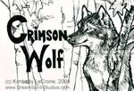 Crimson Wolf Conbadge in Prog