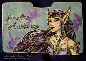 Nuriko Windchaser: Conbadge by Dreamspirit