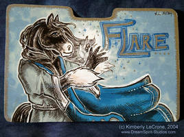 Flare: Completed Conbadge by Dreamspirit