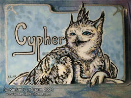 Cypher's Completed Conbadge by Dreamspirit