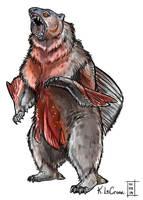 Piranha Bear Sketch by Dreamspirit