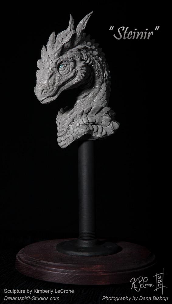 Steinir Dragon Sculpture (with Base) by Dreamspirit