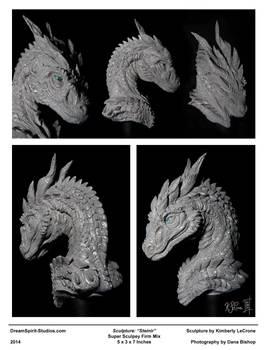Steinir Dragon Sculpture (Collage View)