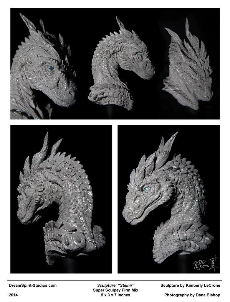 Steinir Dragon Sculpture (Collage View) by Dreamspirit