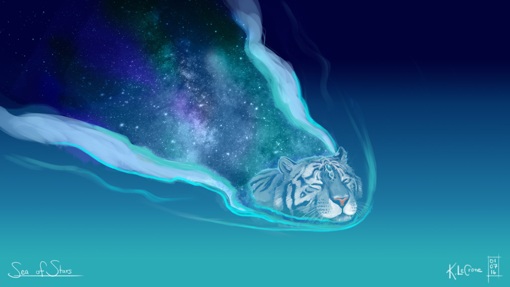 30 Day Story-Sketch Challenge: Day 9: Sea of Stars by Dreamspirit